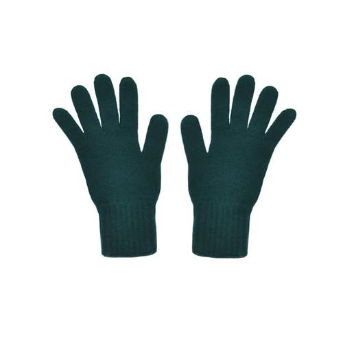 Cashmere Gloves, Bottle Green