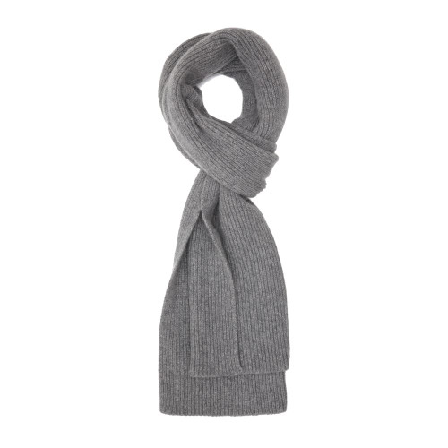 Cashmere Ribbed  Scarf, Flannel