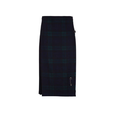 Ladies Pure Wool Kilt, Long, Black Watch