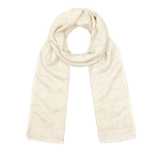Cashmere Scarf, Natural