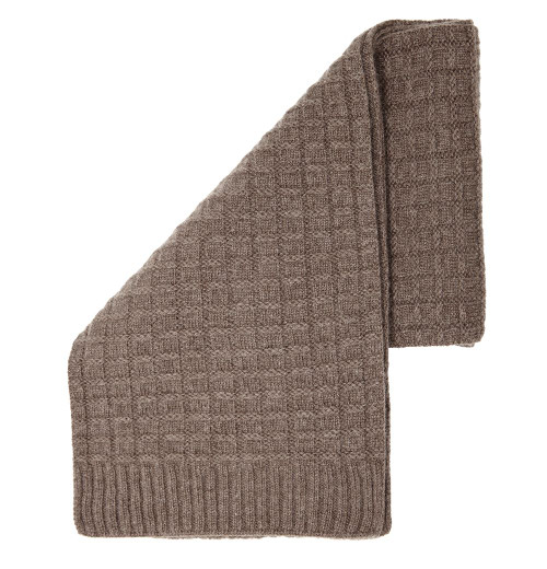 Cashmere Squared Scarf, Brown