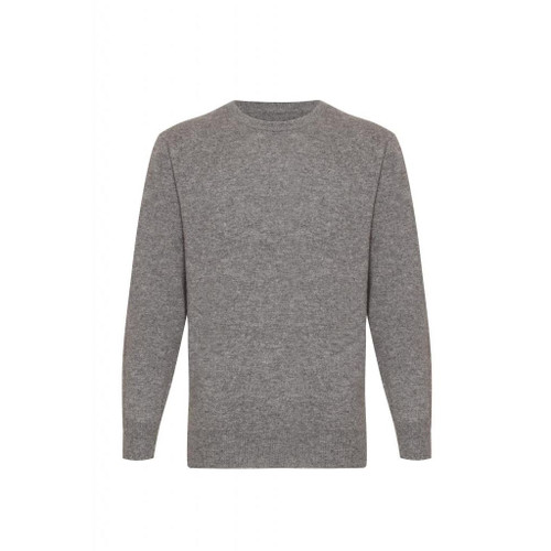 Cashmere Round Neck Jumper, Grey