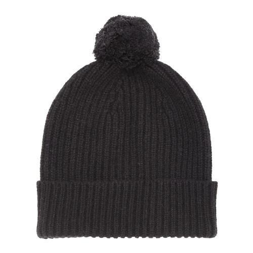 Cashmere Bobble Hat, Black