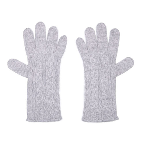 Cashmere Cable Gloves, Flannel