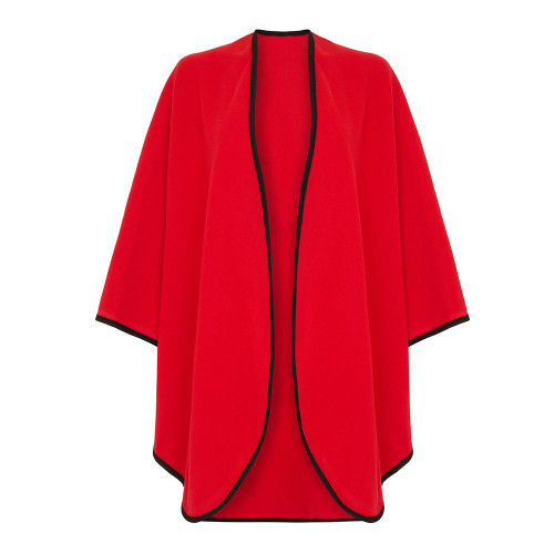 Cape with Trim, Red