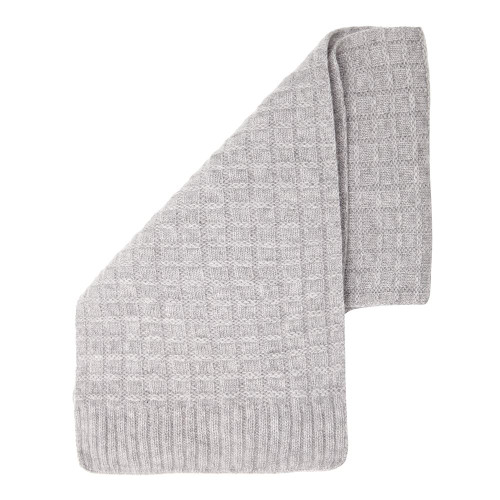 Cashmere Squared Scarf, Grey