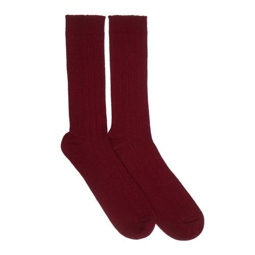 Mens Cashmere Socks, Maroon