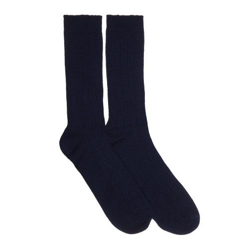 Mens Cashmere Socks, Navy