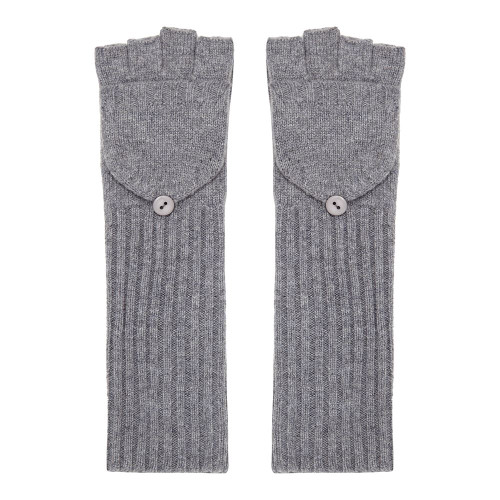 Long Cashmere Gloves, Grey
