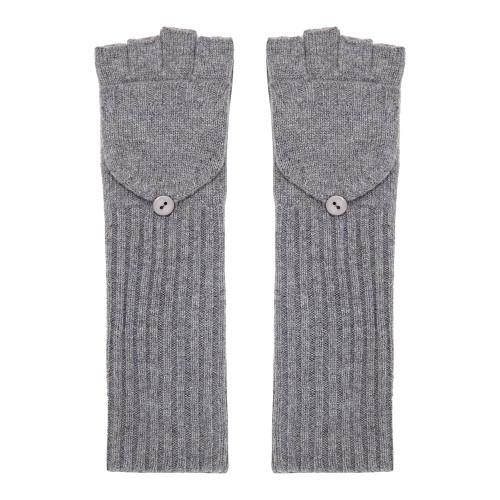 Long Cashmere Gloves, Grey