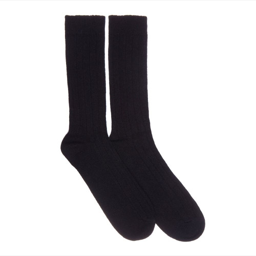 Mens Cashmere Socks, Black