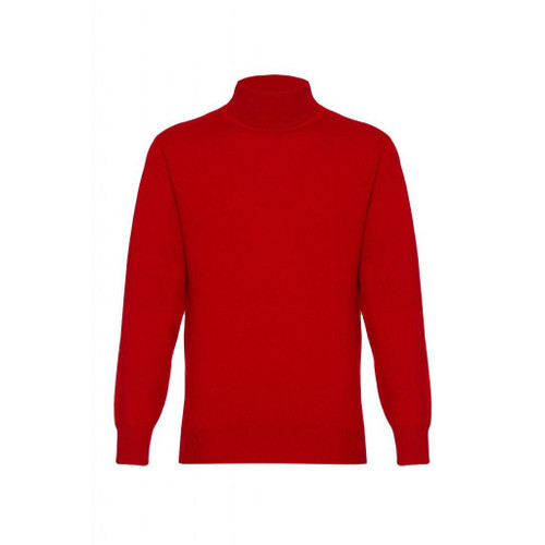 Cashmere High Neck Jumper, Red
