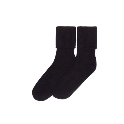 Ladies Cashmere Socks, Black