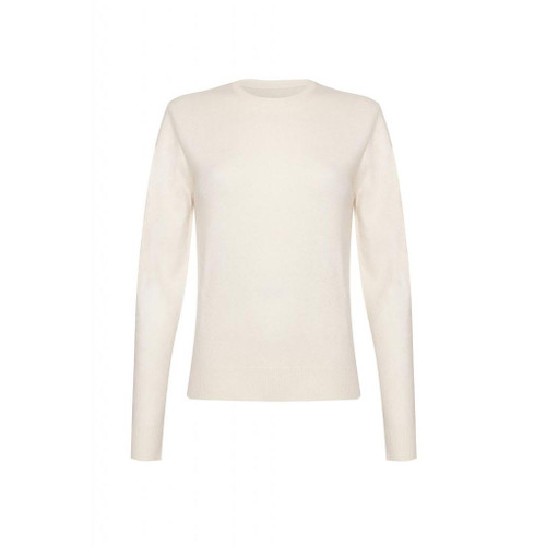 Cashmere Round Neck Jumper, White