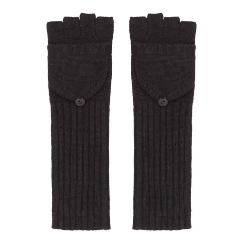 Long Cashmere Gloves, Black
