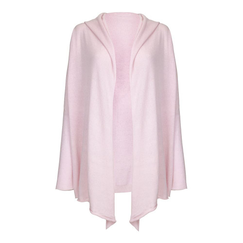 Ladies Hooded Cardigan, Pink