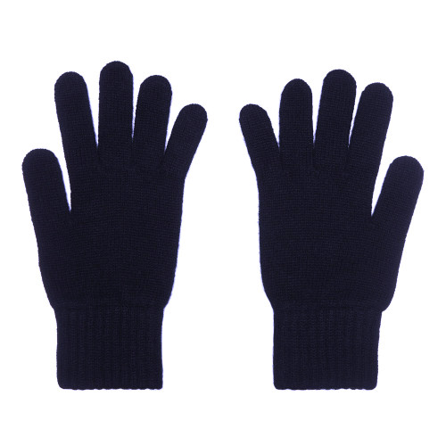 Cashmere Gloves, Ladies, Navy