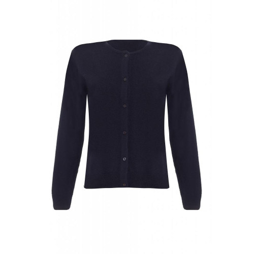 Cashmere Classic Cardigan, Ladies, Navy