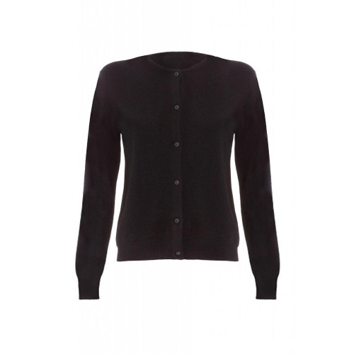 Cashmere Classic Cardigan, Ladies, Black