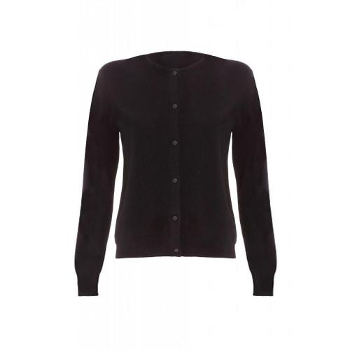 Cashmere Classic Cardigan, Ladies, Black