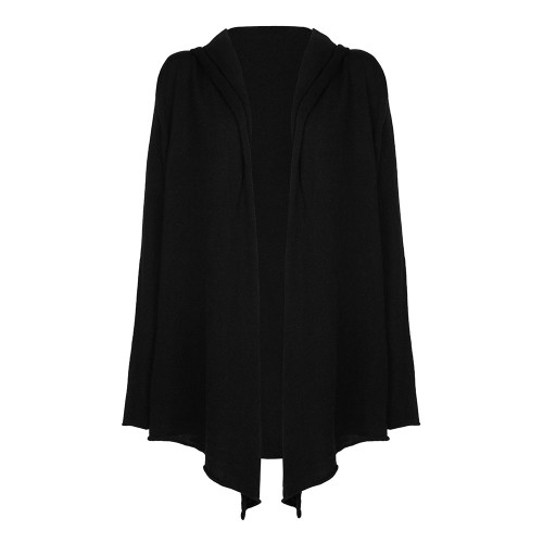Ladies Hooded Cardigan, Black