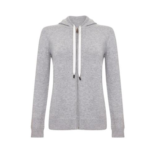 Hooded Cardigan, Grey