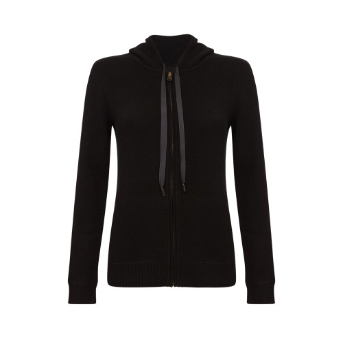 Hooded Cardigan, Black