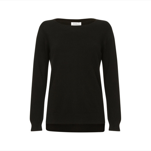 Cashmere Tunic Jumper, Black