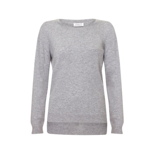 Cashmere Tunic Jumper, Grey