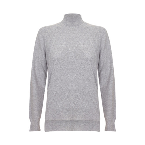 Argyle Turtle Neck, Grey
