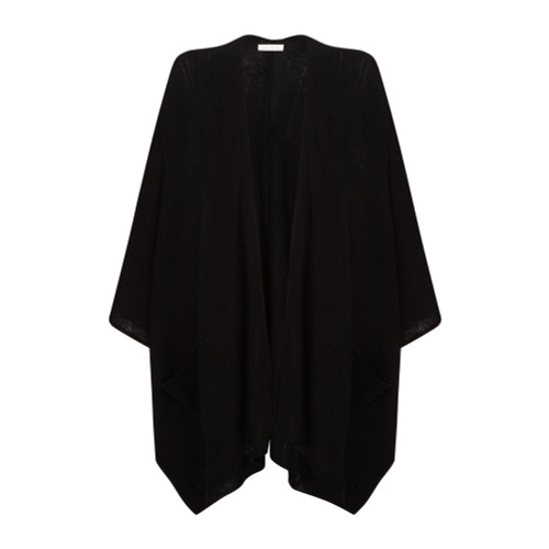Cape with Pockets, Black