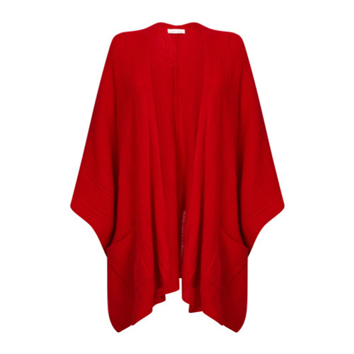 Cape with Pockets, Red