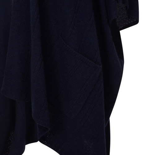 Cape with Pockets, Navy