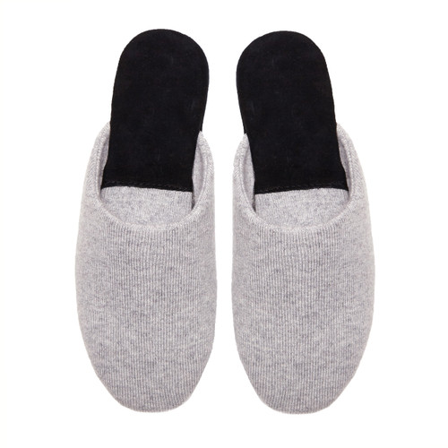Ladies Cashmere Slippers, Grey