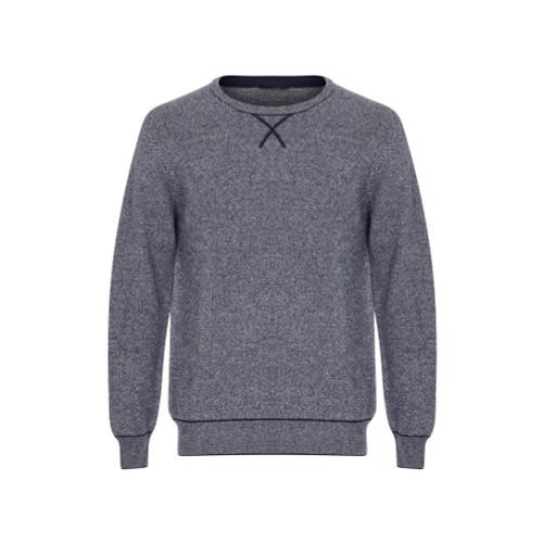 Navy cashmere jumper jacquard
