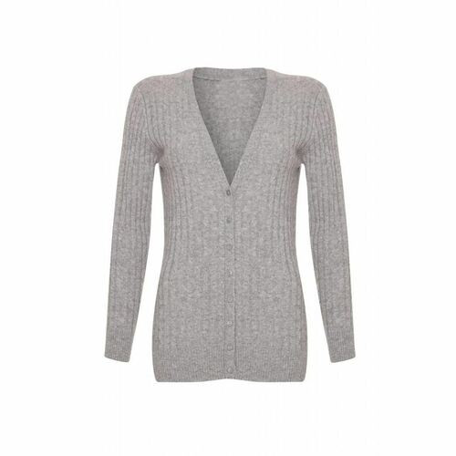 Long Cashmere Cable Cardigan