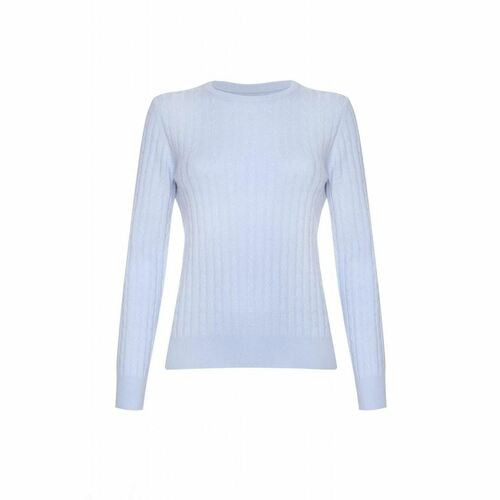 Cashmere Cable Round Neck Jumper