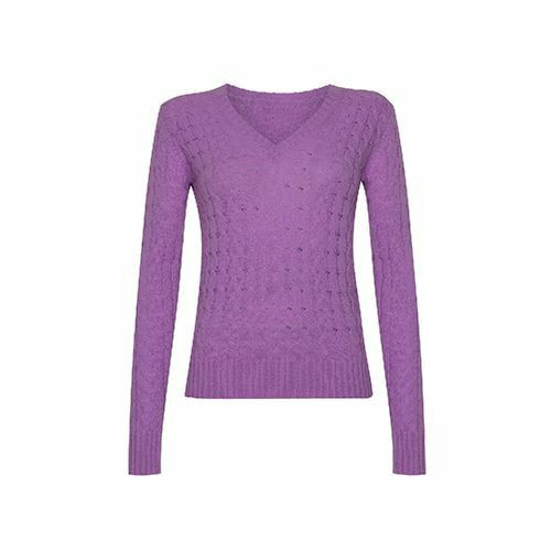 Cashmere Cable V Neck Jumper