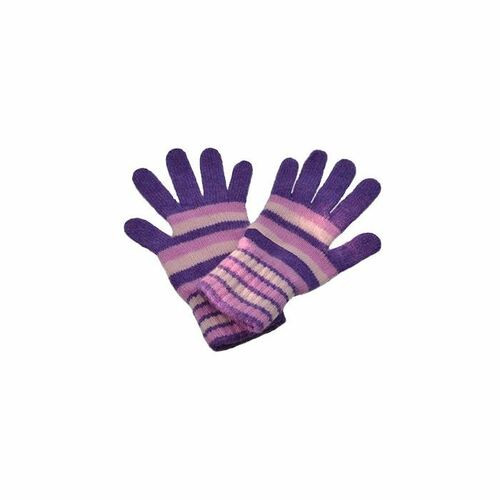 Striped Cashmere Gloves
