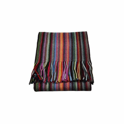 Cashmere 2 Ply Striped Scarf