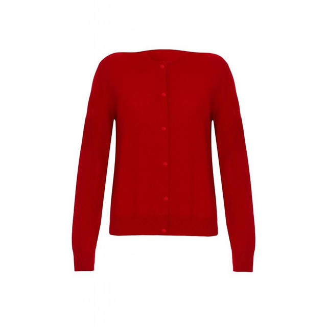 Cashmere Classic Cardigan, Red