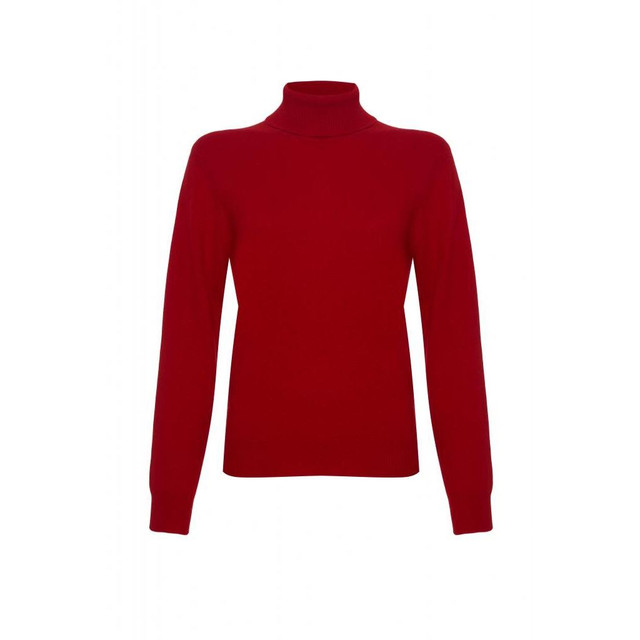Cashmere Polo Neck Jumper, Red