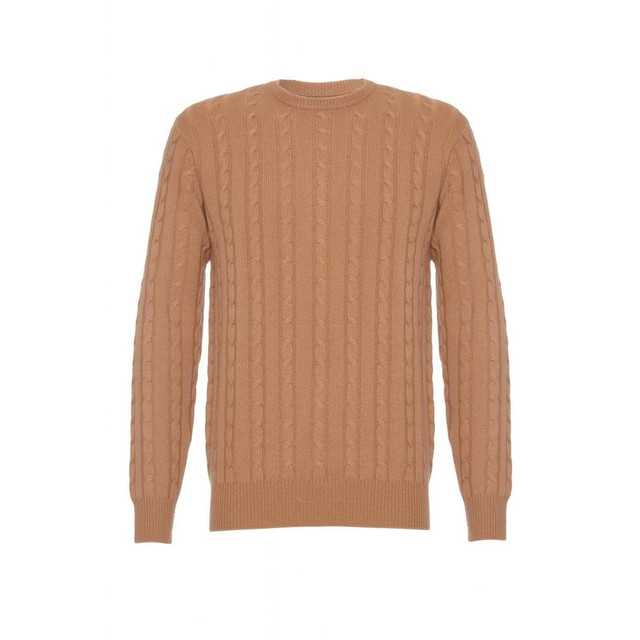 Cashmere Cable Jumper, Beige