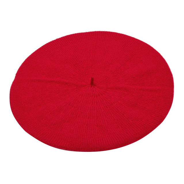 Cashmere Beret, Red