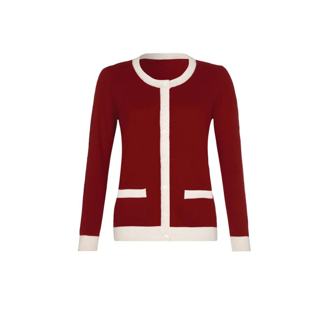 Cashmere Cardigan, Red