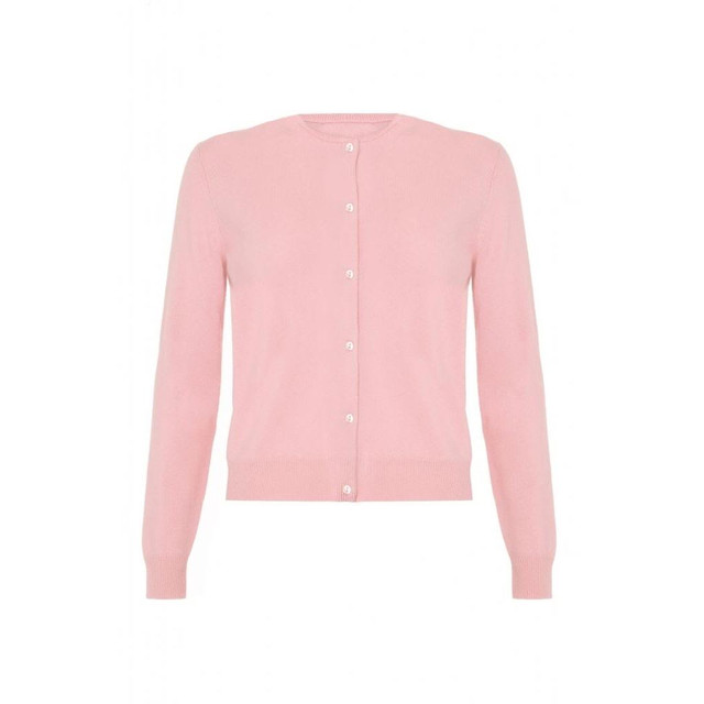 Cashmere Classic Cardigan, Baby Pink