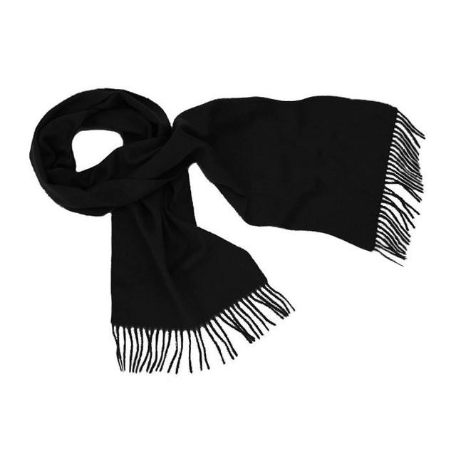 Cashmere Plain Scarf, Black