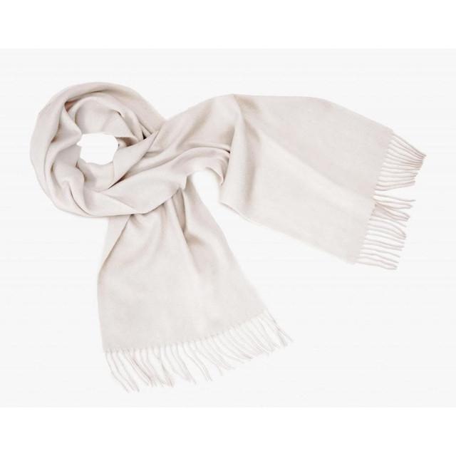 Cashmere Plain Scarf, White