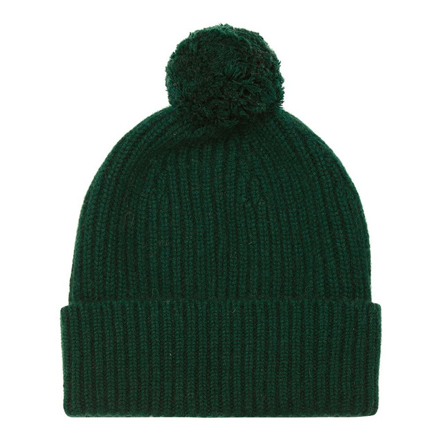 Cashmere Bobble Hat, Green