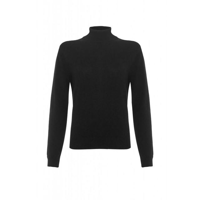 Cashmere Polo Neck Jumper, Black